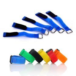 Correias de fixação reutilizáveis de Nylon ajustável com gancho e laços de cabo cinch para baixo com fivela de Metal