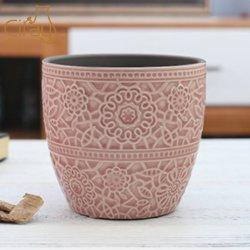 Vitrage Crackled rose fleur en céramique salle de séjour le semoir
