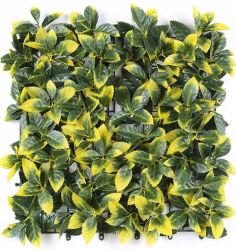 抗 UV 人工 Boxwood Fern 工場 Hedge Privacy Green Wall 垂直の庭園