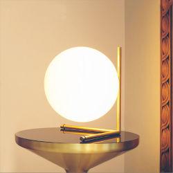 Современный стеклянный стол настольный светильник в золотой раме для спальни, Office, учебный класс