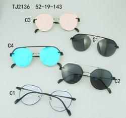 نظارات شمسية دائرية/إطار معدني مربع
