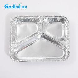 Jeux d'effectuer la restauration du papier aluminium boîte à lunch avec couvercle pour une utilisation quotidienne