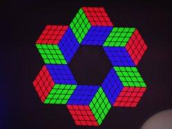 나이트 클럽용 LED 매직 큐브 월 패널
