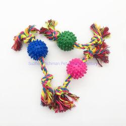 Productos para mascotas masticar goma de la cuerda de poliéster algodón Play juguete para perros y gatos