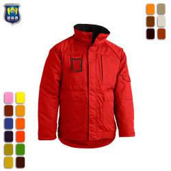 Trabalhador da construção de cor vermelha casacos de trabalho mecânico uniforme