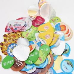 Le gaufrage du papier aluminium Couvercle pour joint de la chaleur de yaourt tasse en plastique