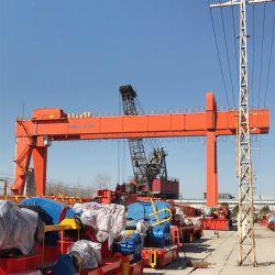 屋外の使用されたリモート・コントロール20トンレール敷の10トンのガントリークレーン32トンの二重ガードの