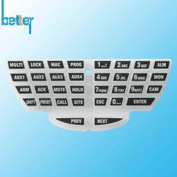 عادة مادّة أيلاستومر مطّاطة لوحة أرقام سليكوون لوحة مفاتيح تغطية