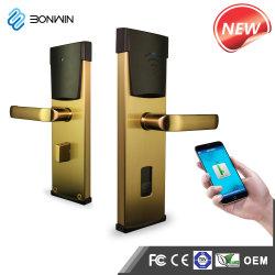 Aço inoxidável APP eletrônico sem fio Controle Remoto um graminho fechadura de porta inteligentes RFID para Hotel