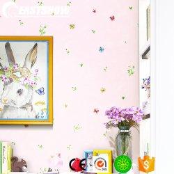 Papillon et la couronne de papier peint pour la chambre de bébé (220-240 g/m² 53cm*10M)