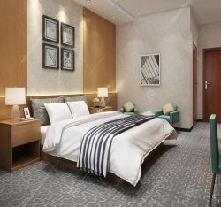 Meubilair van de Slaapkamer van het Hotel van Fabriek 3-4 van Foshan het Ster Aangepaste Houten Eigentijdse voor het Project van Saudi-Arabië
