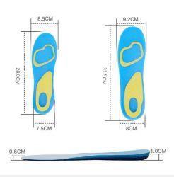 Aumentar la altura de la acupresión Poron no tejido transpirable de látex Sport Confort anti olor suave Amortiguador Plantilla Ortholite