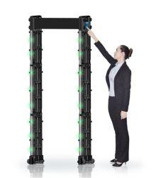Resistente al agua portátil de alta sensibilidad paseo por el detector de metales Detector de la seguridad humana para el aeropuerto/metro/gobierno