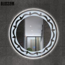 LED 가벼운 램프를 가진 둥근 벽 은 목욕탕 미러 유리
