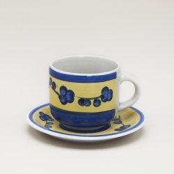 Logo personnalisé imprimé tasses en porcelaine soucoupes pour le café