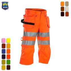 Travail à haute visibilité Shorts fluorescent ruban réfléchissant