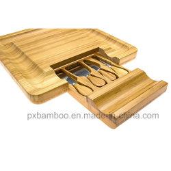 Conseils de fromage en bambou avec les couteaux de bloc de coupe de fromage Chop