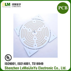 Tarjeta electrónica PCB de mazorca de aluminio blanco máscara de soldadura