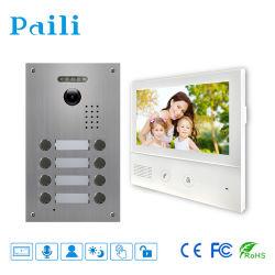 TCP IP vidéophone Multi Appartement avec de nouvelles mains-libres sonnette vidéo couleur 7 pouces