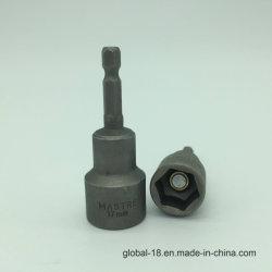 """6mm-15mm 너트 세터 드라이버의 육각 1/4"""" 생크 자성 전원 소켓 어댑터 드릴 비트"""