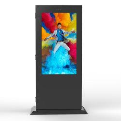 Im FreiendigitalSignage großer grosser bekanntmachender LCD-Bildschirm Fernsehapparat