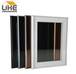 Pedido pequeño plata blanco negro Chamgne aceptable Marco de aluminio color kitchen cabinet las puertas de vidrio