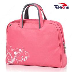 オフィスビジネス文書のためのデザイナー女性ピンクのラップトップの短い袋