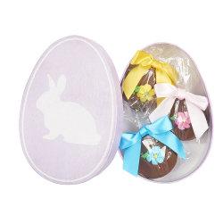 ボックス卵形キャンデーのギフト用の箱を包む美しいビスケット