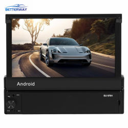 Betterway Android 8,17 Zoll Stereo 1DIN Auto Video MP3/MP4/MP5/FM Android DVD Faltbar abnehmbarer Touchscreen GPS WiFi BT USB FM Auto-Videoplayer