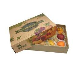 China aprobó OEM del fabricante de embalaje de almacenamiento de frutas verduras congeladas de embalaje de cartón corrugado de cartón de papel Kraft Expositor