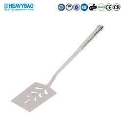Spatola scanalata all'ingrosso dell'acciaio inossidabile di Heavybao per la cucina che cucina gli strumenti