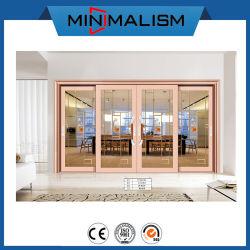 Material de construção de porta corrediça de perfil de alumínio com isolamento de vidro temperado