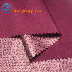 Tessuto dello Spandex degli abiti sportivi del tessuto di seta naturale di alta stirata rivestita della pellicola di TPU poli