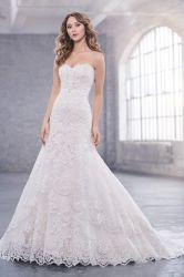 Роскошные кружева линию устраивающих платье Strapless свадебные платья