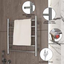 壁面取り付け式ステンレススチール 304 タオルウォーマー電気タオルラック 浴室乾燥の熱い販売 (Z6E-119-30)