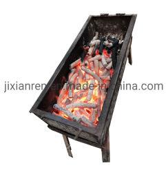 バーベキューやフェアプレイス用の、スモークではない硬材炭