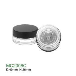 プラスチック空の円形の緩い粉の瓶の化粧箱を包む卸売によってカスタマイズされる構成