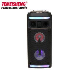 Neues privates Doppeltes 6.5 Zoll-Karaoke-Partei MiniBluetooth Berufslautsprecher-Kasten mit LED-Licht