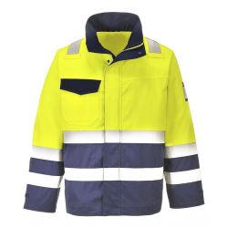 L'exploitation minière uniformes de vêtements de travail de la construction des vestes réfléchissantes enduire