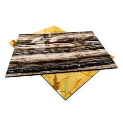 PE/revestido de PVDF folhas ACP Painel Composto de alumínio de grãos em mármore