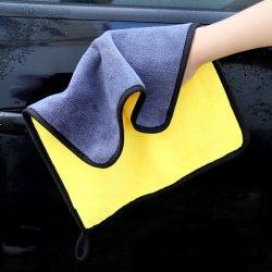 Ultrazachte, grote, dikke en sneldrogende Auto Microfiber Cleaning handdoek voor 4s Store Gift