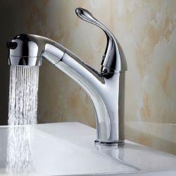 Badezimmer-Bassin-Hahn-Wasser-Mischer-Hahn-Messingdusche-Spray