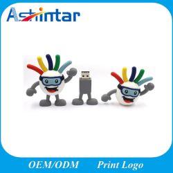 맞춤형 USB 2.0 카툰 3D PVC USB 플래시 드라이브 고무 선물용 USB 펜드라이브