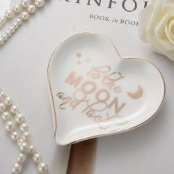 Boa qualidade e a placa do anel de cerâmica em forma de coração
