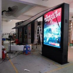 Kundenspezifischer Fußboden, der LCD bekanntmacht DigitalSignage Media Player mit Noten-Handelsbildschirm-niedrigem Preis steht