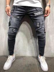Nuevo estilo de los hombres los pantalones de cintura pantalones hombres Medio Denim Ripped jeans ajustados a los hombres