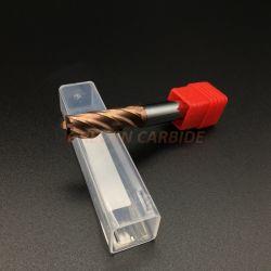 HRC55 Molens van het Eind van het Carbide van het Wolfram van de Deklaag van het koper de Vlakke