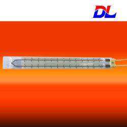 Vidrio de cuarzo de doble tubo de calefacción por infrarrojos de onda corta/emisor/Lámpara con Ce/ISO 9001