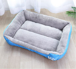 Fertigung-weiche Baumwollwarmer Veloursleder-Tuch Retangle Gleitschutzhundebett-Haustier-Haus-Auflage-Matratze Por Hund und Katze