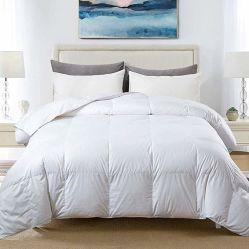 Edredón acolchado de algodón blanco edredón de plumas de ganso y textiles de pato relleno de plumas - toda la temporada de insertar o conjunto de ropa de cama edredones Stand-Alone Shell 90 Colcha abajo